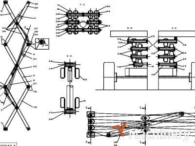 HAULOTTE 196B150570 keltuvų važiuoklės dalys